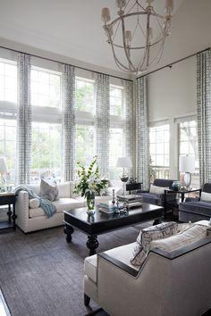 spacious living room | Heather Scott Home and Design