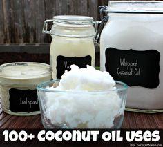Usos 100+ aceite de coco