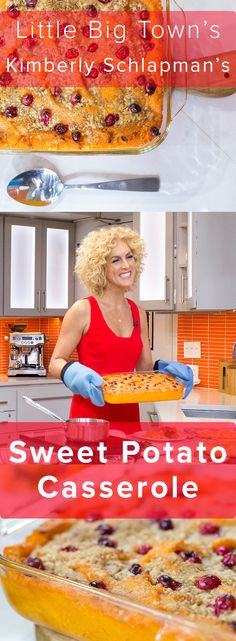 We love country music's Kimberly Schlapman's sweet potato casserole almost as much as we love Little Big Town! Thanksgiving Side Dishes, Thanksgiving Recipes, Holiday Recipes, Dishes To Go, Tasty Dishes, Food Network Star, Food Network Recipes, Side Recipes, Vegetable Recipes