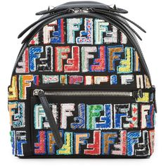Fendi Leather Mini Backpack (£2,022) ❤ liked on Polyvore featuring bags, backpacks, fendi bags, fendi backpack and fendi