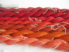 Hand dyed luxury pure silk yarn 7 skeins of by SianMarieDesign, £14.00