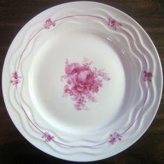 Decorative Dishes - Fuschia Pink Rose Fine White Porcelain Wavy Edge Plate Portugal, $34.99 (http://www.decorativedishes.net/fuschia-pink-rose-fine-white-porcelain-wavy-edge-plate-portugal/)
