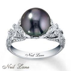 Black Pearl Engagement Rings