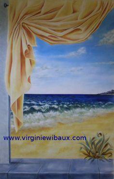 Exemple de peinture murale à l'huile. Sur devis. www.virginiewibaux.com