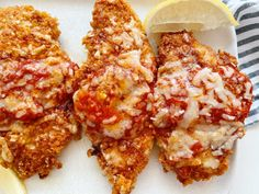 New Summer Recipe Alert: Summer Chicken Cutlets » Our Savory Life Weekly Recipes, Keto Recipes, Summer Chicken, Chicken Cutlets, Marinara Sauce, Meals For The Week, Summer Recipes, Chicken Wings, Stuffed Peppers