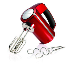 Morphy Richards 48989 300 Watts 5 Settings Accents Hand Mixer in Metallic Red