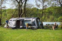 The new Outwell Vermont 7SA large family tent. New for 2017
