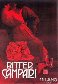 By Werbung, 1910,  Bitter Campari, Milano, Italy.