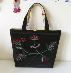 Velvet bag – private commission, Japan.