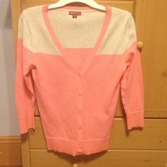 Merlons cardigan Peach and grey Sweaters Cardigans
