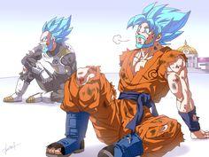 Goku and Vegeta by GoddessMechanic2.deviantart.com on @DeviantArt