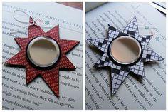 Star Mirror Christmas Ornament - 20 Cute DIY Newspaper Decoration Ideas