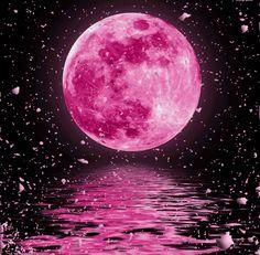 Pink-moon by DizzyMaverick Pink Moon Wallpaper, Nature Wallpaper, Galaxy Wallpaper, Wallpaper Backgrounds, Moon Painting, Simple Acrylic Paintings, Moon Magic, Beautiful Moon, Pastel Art