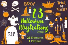 Halloween Illustrations by skrich on @creativemarket