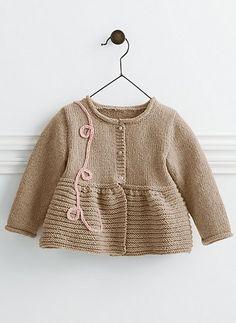 783 - Cardigan pattern by Bergère de France - Her Crochet Crochet Baby Jacket, Knitted Baby Cardigan, Knit Baby Sweaters, Knitted Baby Clothes, Kids Knitting Patterns, Knitting For Kids, Baby Patterns, Cardigan Bebe, Cardigan Pattern