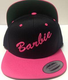 ffd3cc19b3b Snapback black and pink Barbie hat!