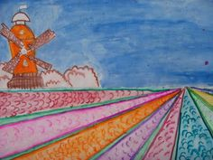 Dutch Tulip Fields and 1 point perspective