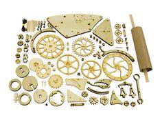 Mechanical Wood Clock Kit - ScientificsOnline.com