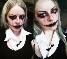 Makeup inspiration of wednesday addams by maria dunkelheit