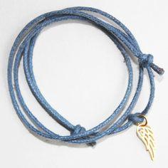 bracelet bleu aile