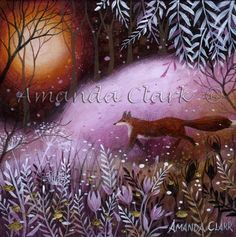The Fox's Meadow - Amanda Clark- art gallery, original paintings