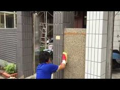 Cement rendering on outside brick wall with small stone ( pebble dash ) - YouTube