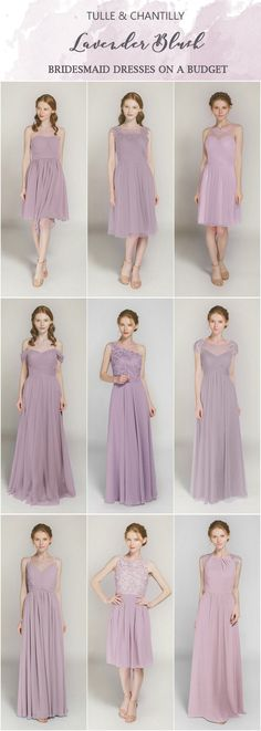 Lavender Blush bridesmaid dresses on a budget