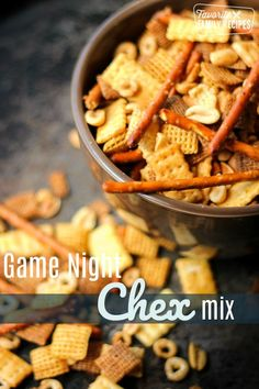 This Game Night Chex Mix is the perfect snack for family get togethers. It is toasty and savory and addicting! So much better than store bought! Homemade Chex Mix, Homemade Soup, Chex Mix Recipes, Snack Recipes, Appetizer Recipes, Game Night Snacks, Easy Family Meals, Family Recipes, Holiday Recipes