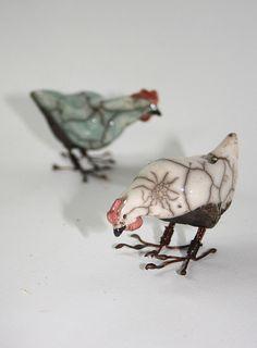 2 hens by Joe lawrence art work, via Flickr