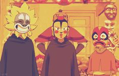 ATLA: Wearing Masks [gif] I never understood this episode, did the man that sells the mask not notice that Aang was an Airbender?? And had the tattoos??
