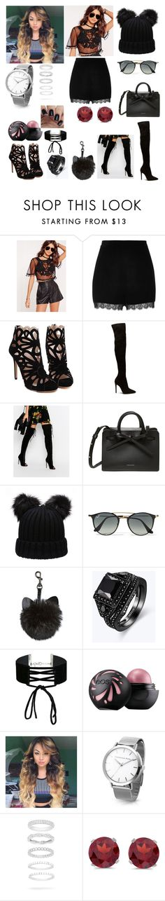 """""""Young fashion # 174"""" by demacracy ❤ liked on Polyvore featuring Missguided, River Island, Truffle, Ray-Ban, Miss Selfridge, Belk Silverworks and BillyTheTree"""