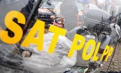 Satpol PP Tertibkan PKL Jalur Lambat Subrantas