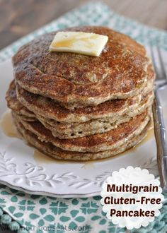 Multigrain Gluten-Free Pancakes | www.nutritiouseats.com
