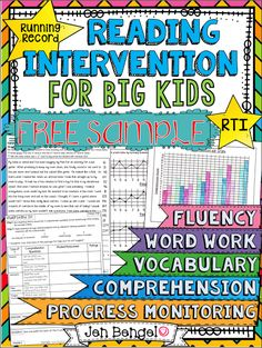 Common Questions about the Reading Intervention Program