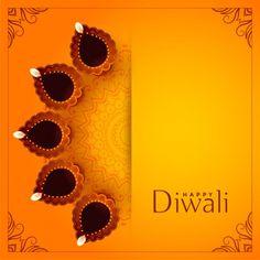Happy diwali yellow background with decorative diya Free Vector Diwali Wishes Greeting Cards, Diwali Greetings Images, Diwali Wishes Messages, Happy Diwali Wishes Images, Happy Diwali Wallpapers, Diwali Message, Happy Diwali Cards, Shubh Diwali, Diwali Diya