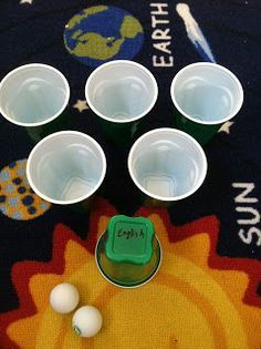 Ping pong and cup review game
