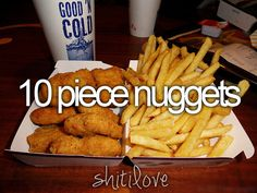 Omg SO if I wasnt worried about having bad health this would be my dinner everyday!! I love me some nuggets from McDonalds!!