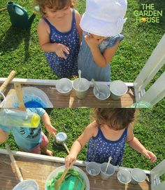 "Love to see our children create recipes in our outdoor mud kitchen! ""I think it needs a pinch of salt, what do you think?""... ""Here, let me take care of it!"" #PlayBasedLearning #naturalplay #EmergentCurriculum #children #Preschool #play"