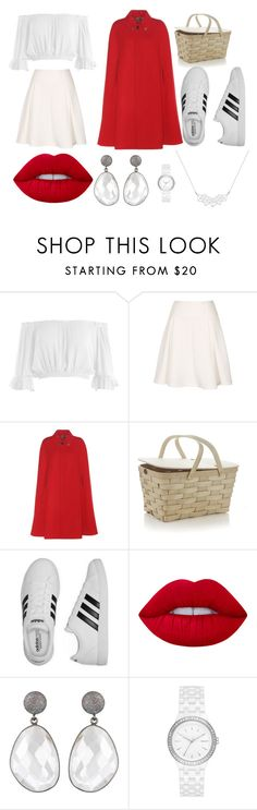 """Modern Little red riding hood"" by lauren53103 on Polyvore featuring Sans Souci, Gucci, Crate and Barrel, adidas, Lime Crime, DKNY, modern, Costume and LittleRedRidingHood"