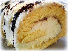 Kokosová roláda Vanilla Cake, Cake Recipes, Food And Drink, Sweets, Basket, Pineapple, Easy Cake Recipes, Gummi Candy, Candy