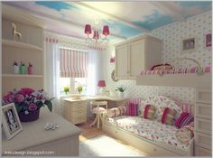 Creative Blooming Pink Fuschia Bedroom With Floral Sofa Ideas For Teenage Girls Best Ever Room Design