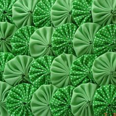 Items similar to Polka Green Fabric Yo Yo Quilt Applique Suffolk Puff Scrapbook Handmade on Etsy Fabric Rosette, Fabric Flowers, Yo Yo Quilt, Free To Use Images, Star Quilt Patterns, Sewing Material, Primitive Christmas, Applique Quilts, Green Fabric