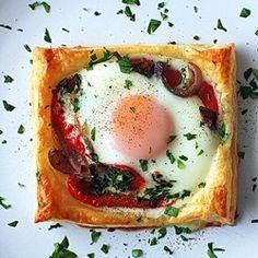Egg & Vegetable Puff by eintopf #Egg #Breakfast