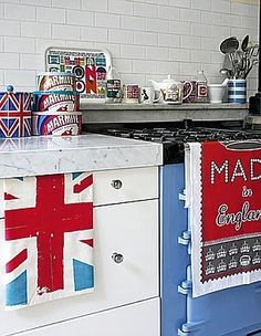 British Kitchen - Love the Marmite Canisters