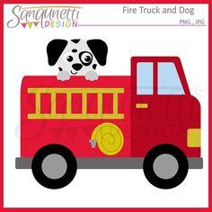 Fuego clipart camión transporte Imágenes por SanqunettiDesigns