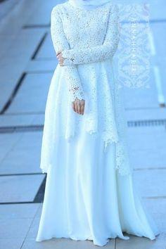 Malay Wedding Dress, Muslim Wedding Gown, Muslimah Wedding Dress, Muslim Wedding Dresses, Dress Muslimah, Wedding Abaya, Muslim Evening Dresses, Hijab Evening Dress, Hijab Bride