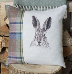 Limited Numbers Available in this Tweed Exclusively Hand Drawn Design for Rustic Country Crafts This gorgeous Hand Drawn ' Mr Hare ' in Spring Tweed and Linen Country Crafts, Hare, Home And Living, Tweed, Sewing Projects, How To Draw Hands, Cushions, Throw Pillows, Rustic