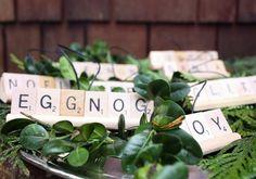 Scrabble letter ornaments DIY