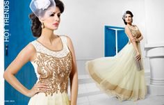 Designer Indian Bollywood Pakistani Net Wedding Dress Bridal Gown Size 40 New Party Wear Long Gowns, Evening Party Gowns, Net Gowns, Floor Length Gown, Indian Bollywood, Pakistani, Gowns Of Elegance, Anarkali Dress, Designer Gowns
