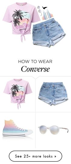 """""""Purple"""" by voliegrl on Polyvore featuring Ray-Ban, Levi's, Miss Selfridge and Converse"""
